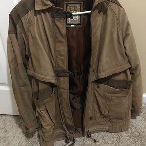 Global identity leather jacket